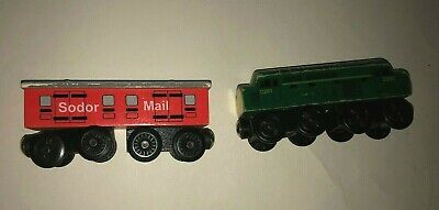 Thomas the Tank Engine Train Wood Wooden Railway Sodor Mail and Diesel D261