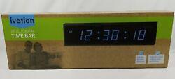 Ivation Huge 24 Inch Large Big Oversized Digital LED Clock Bar FREE SHIP