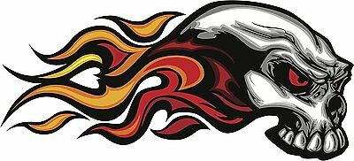 Universal Fire Skull Decal Sticker For Cars And Bikes for sale  DELHI