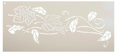 - Blowing Leaves Stencil by StudioR12 | Reusable Mylar Template | Autumn Style...