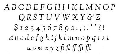 New Letterpress Type - 36 Point Goudy Old Style Italic