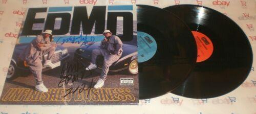 "EPMD SIGNED UNFINISHED BUSINESS 12"" DOUBLE VINYL LP RECORD AUTOGRAPH COA RARE"