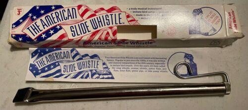 American Slide Whistle; Nickel-plated Brass; Bird Calls, Popular Tunes, New