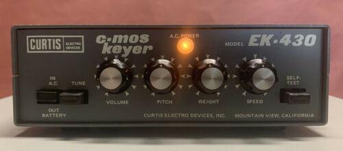 Curtis Electro Devices EK-430 C-MOS Electronic Keyer for Ham Radio CW Morse