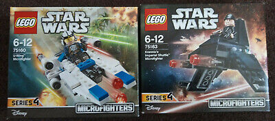 Lego Star Wars microfighters 75160 Rebel U-wing 75163 Imperial shuttle unopened
