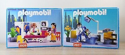 Playmobil 3926 & 3927 Dentist Doctor Playset New lot of 2 Vintage