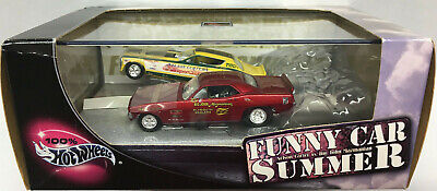 Hot Wheels 100% Collectibles FUNNY CAR SUMMER Limited Edition (2) Car Set