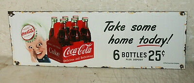 Coca Cola Sprite Boy Vintage Style Porcelain Signs Country Store Station