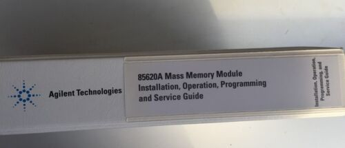 AGILENT 85620A MASS MEMORY MODULE INSTALLATION, OPERATING, PROGRAMMING MANUAL