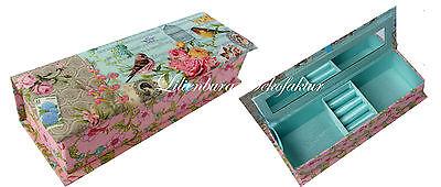 Schmuckkasten Schmuckkästchen Schmuckkoffer Schmuckschatulle rosa Mädchen Kinder Grün