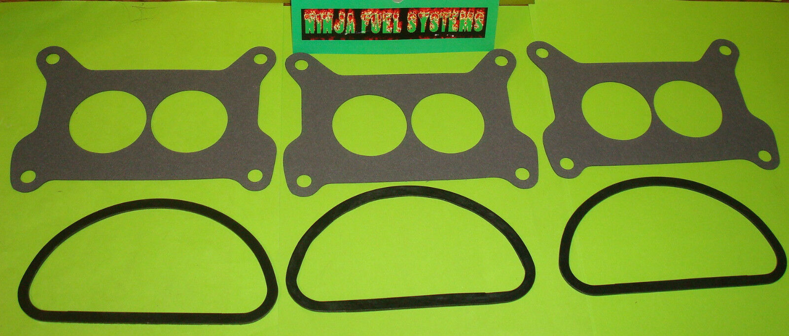 Mopar 6 Pack Tri Power Carburetor Base And Air Cleaner Gasket Set For Holley
