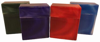 (4 Pack King Size Crush-Proof Plastic Flip Open Case Holds 30 Cigarettes - 2603)