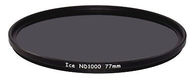 Solid ICE Shockproof 77mm ND1000 Filter Neutral Density ND 10 Stop Temper Glass