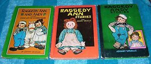 RAGGEDY ANN AND ANDY VINTAGE HARDCOVER BOOK LOT 1960 1961 JOHNNY GRUELLE