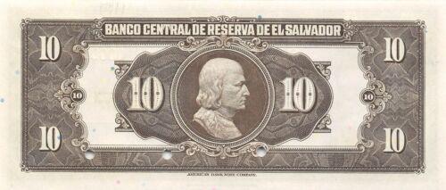 El Salvador  10  Colones  14.1.1943  P 85s  Series  B  Uncirculated Banknote