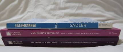 Specialist Maths ATAR Year 11 and 12 Textbooks
