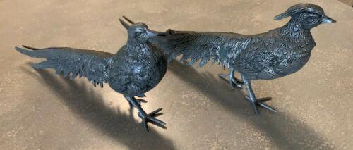 Metal Pheasants - Pair