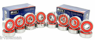 16 In-line Inline Roller Skate Sealed Bearings