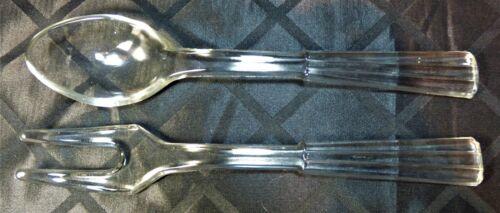 Glass Salad Serving Set, fork & spoon