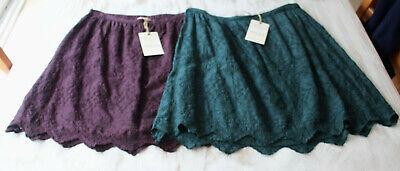 Embroidered Mini Skirt (M&S Indigo Sze 8-22 Pure Modal Broderie Anglaise Embroidered Mini Skirt Bnwt £35)