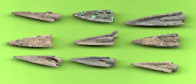 Lot of 9 Sarmatia OLBIA Cast Proto Money ARROW 5th BC Ukraine Russia 65