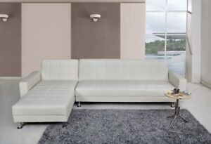 SECTIONNEL / DIVAN/ SOFA/FUTON FORMANT LIT KING —- RÉVERSIBLE