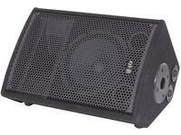 QTX QT8M passive wedge floor monitor foldback speaker with w audio epx 300 power amp