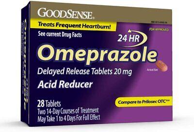 GoodSense Omeprazole Delayed Release Tablets 20 mg, Acid Reducer, 28 Count