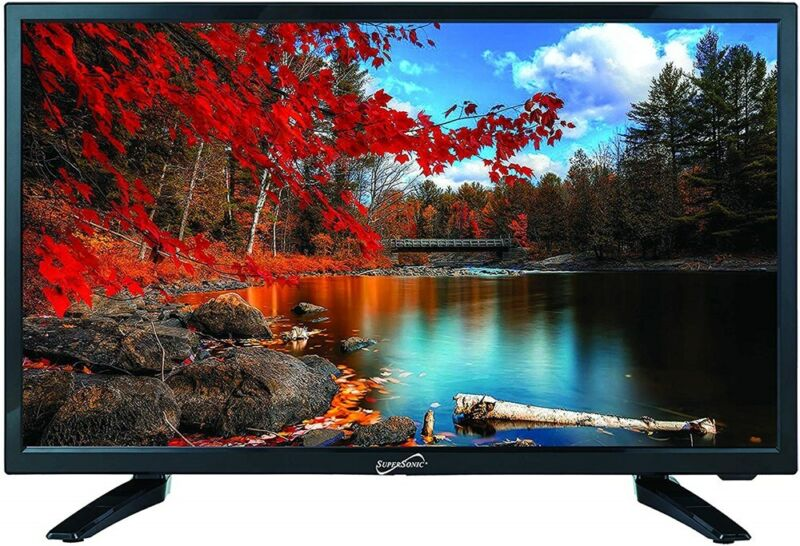 """SuperSonic SC-2411 LED Widescreen HDTV 24"""" Flat Screen with USB Compatibility"""