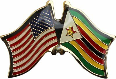 Wholesale Pack of 50 USA American Zimbabwe Friendship Flag Hat Cap lapel Pin