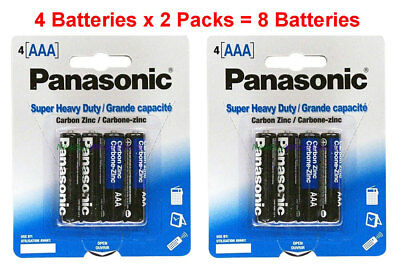8x Panasonic AAA Batteries Heavy Duty Triple A 1.5v Carbon Zinc 4pk x 2 for sale  Shipping to India