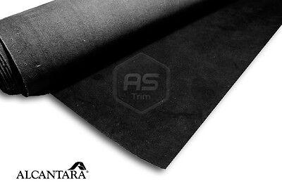 Genuine Black Alcantara 1m x 1.42m x 1.1mm Thick Seating Grade Backed Fabric