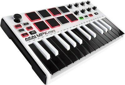 Akai Professional MPK mini MKII MK2 -Compact Keyboard and Pad Controller (White)