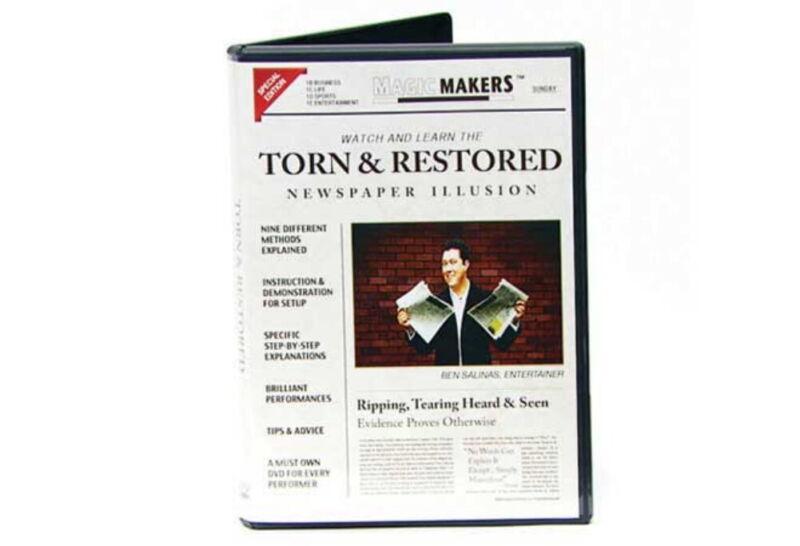 Torn and Restored Newspaper Illusion DVD Magic Trick