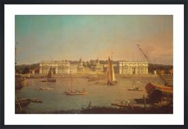 very nice print of greenwich hospital from the isle of dogs painting by antonio canal