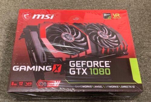 MSI NVIDIA GeForce GTX 1080 8GB GDDR5X PCI Express 3.0 Graphics Card Black/Red GTX1080GAMX8G