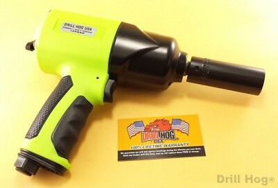 Drill Hog 1/2 Air Impact Wrench Air Tool Composite 1000 FT LBS Lifetime Warranty ()