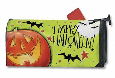Magnet Works Great Big Pumpkin Happy Halloween Magnetic Mailbox Wrap Cover