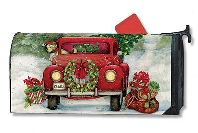 Magnet Works Bringing Home the Tree Christmas Xmas Magnetic Mailbox Wrap Cover