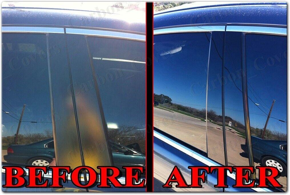 Fits Toyota Camry 92-96 Chrome Mirror B-Pillar Door Pillar Covers Post Accessori