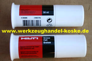 2-Stk-neue-je-50ml-HILTI-Werkzeugfett-Fettspenderbutte