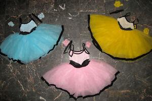 NWT-Black-Velvet-Trim-White-Lace-Organdy-Tutu-Ballet-choker-rose-included-ch-Ad
