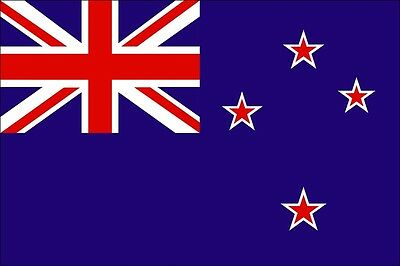 LARGE NEW ZEALAND FLAG 5X3FT 5'X3'  EYELETS FOR HANGING