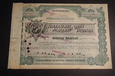 Federal Street   Pleasant Valley Passenger Railway 1892