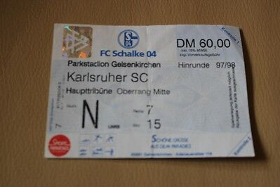 Eintrittskarte Schalke  97-98 Pokal