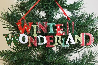 Winter Wonderland Sign Hanging Ornament - Christmas Tree Decoration