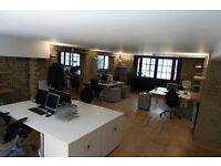 2 Desks - Office / Desk Space just off Bermondsey Street SE1 in friendly warehouse space