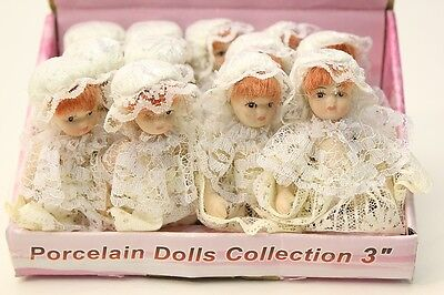 Wholesale / Joblot 12 X 3 Victorian Baby Porcelain Dolls Jointed Limbs