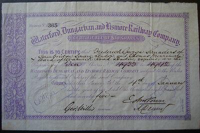 Waterford, Dungarven and Lismore, Engl. Eisenbahnaktie