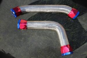 BRAIDED RADIATOR HOSES + CLAMPS V8 HOLDEN 253 308 HQ HJ HX HZ TORANA LH LX NEW